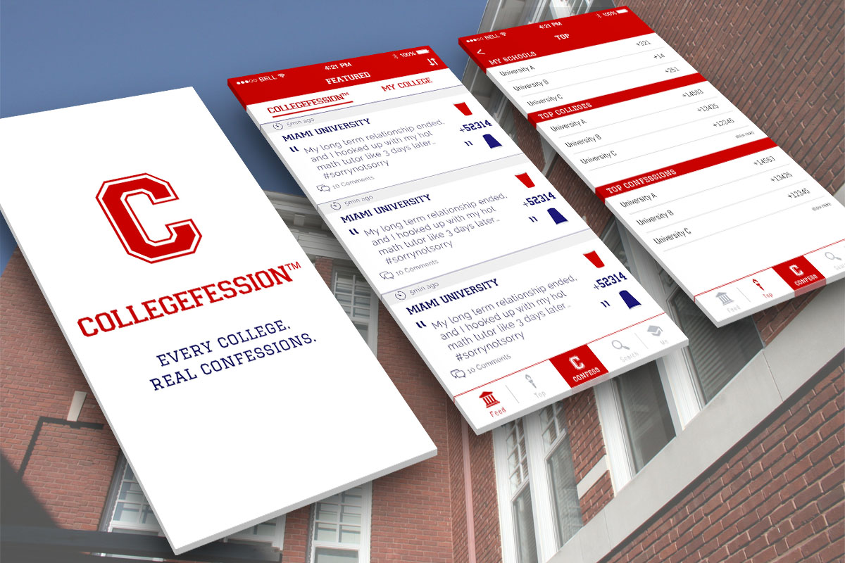 Collegefession App Preview 1