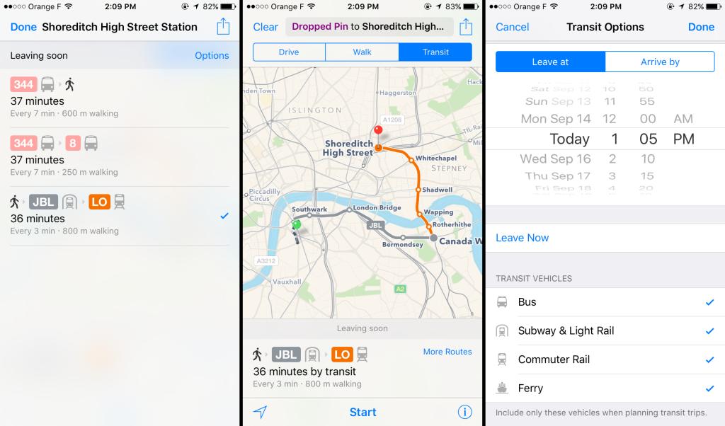 iOS9 maps