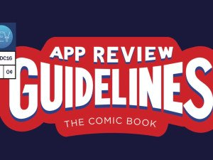 Apple Comic Book shows app review guidelines